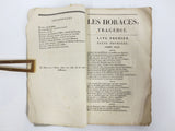 Antique 1815 Theater Play Booklet by Pierre Corneille, Horaces Tragedy, Paris