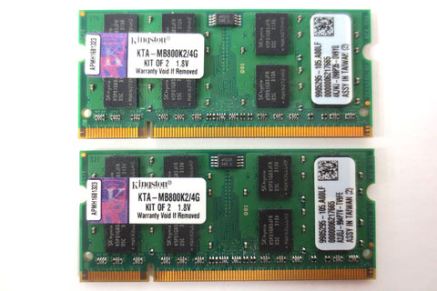 New Kingston 4GB Kit 2x2GB RAM for Apple iMac PC2-6400 DDR2 800MHz KTA-MB800K2