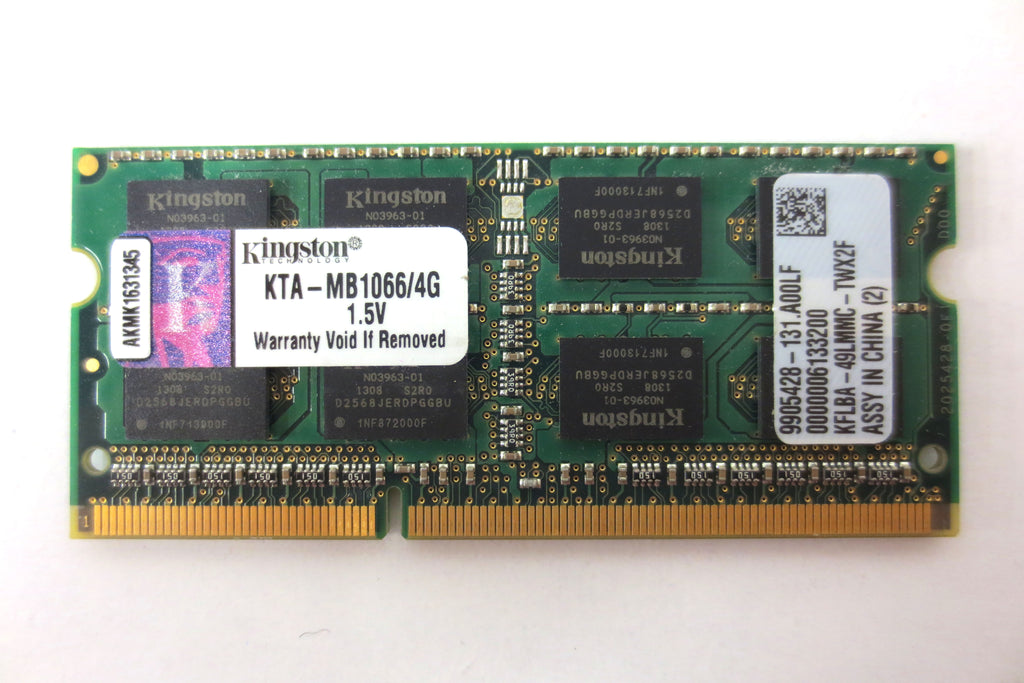 New Kingston 4GB Memory RAM SODIMM for Apple MacBook Pro 204-Pin DDR3 1066MHz