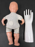 "Scary Vintage Composition Doll 20"", Moving Eyelids, 16"" Porcelain Glove Mold"