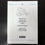 Bio-Rad Original Instructions Manual for all Sub Cell GT Electrophoresis Systems