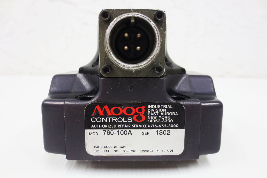 Moog Flow Control Servo Valve 760 Series 3000psi 4-Way 2-Stage Motor 275°F #1302