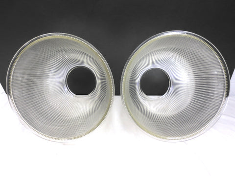 Holophane Glass Light Shades Fixtures 15 Quot Dia Rippled