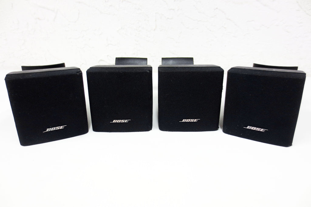 4 Bose Acoustimass Lifestyle Single Cube Speakers w/ Articulated Wall Mount 180°