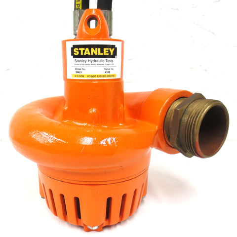 "Stanley SM23 Hydraulic Water Pump 2.5"", 2000psi, 375gpm Capacity, Submersible, Serial 4339"