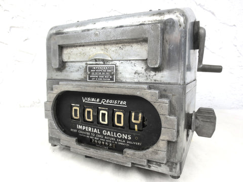 Vintage Visible Gas Register, Art Deco Style Master Meter Duplicator by Smith