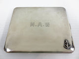 Vintage Sterling Silver Army Cigarette Case, Gold Finish, Birks Jewelry Montreal