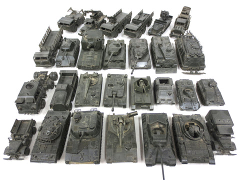 Lot of 29 Vintage Army Tanks and Trucks Toy Models by DBGM ROCO Austria