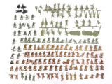 Large lot of 160 WWII Army Military Mini Soldiers Troopers, Vintage Toy Models