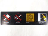 "Vintage Gas Pump Metal Sign Decal 25 x 4"", Turn Off Ignition, No Smoking Warning"