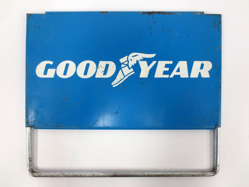 Vintage Goodyear Metal Sign, Goodyear Tires and Oil Advertising Sign, 15 X 9""