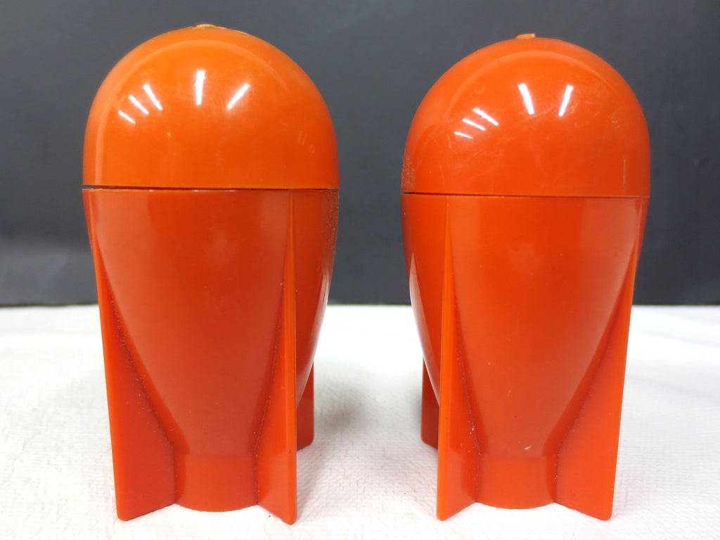 Vintage Mid Century Red Rocket Salt & Pepper Shakers Air Bombs Missiles 3""