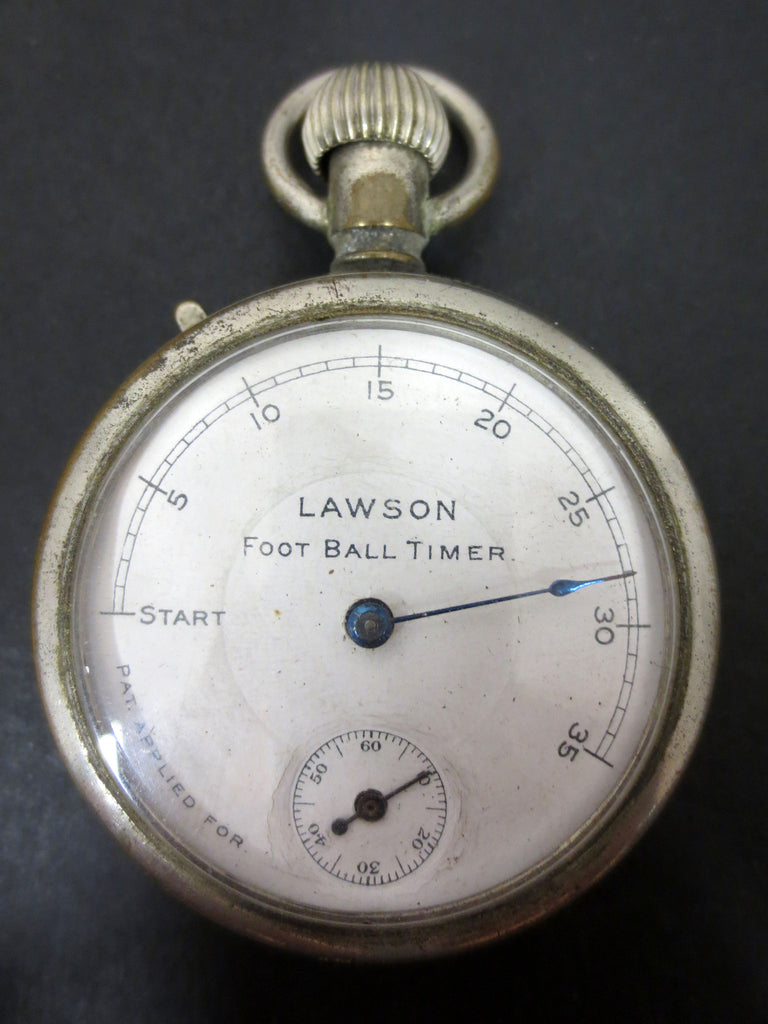 Antique 1902 Lawson Football Timer, Lawson Pocket Clock, Fully Functional
