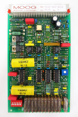Moog Amplifier Circuit Board Control Card Model D122-022-A022, SN D115, Rev b