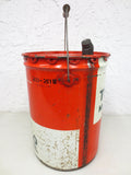 Vintage Texaco Motor Oil 5 Imperial Gallons Can, Improved Motor Oil, Red Green