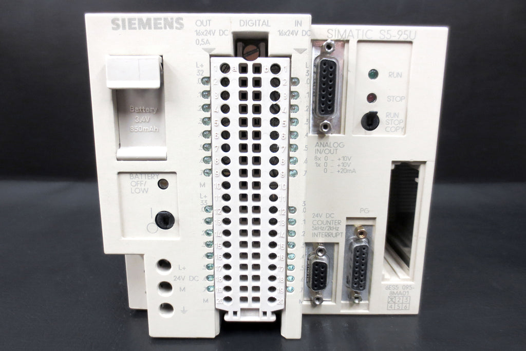 Siemens Simatic  S5-95U Compact Controller Mod. 6ES5095-8MA05, 24VDC, Automation
