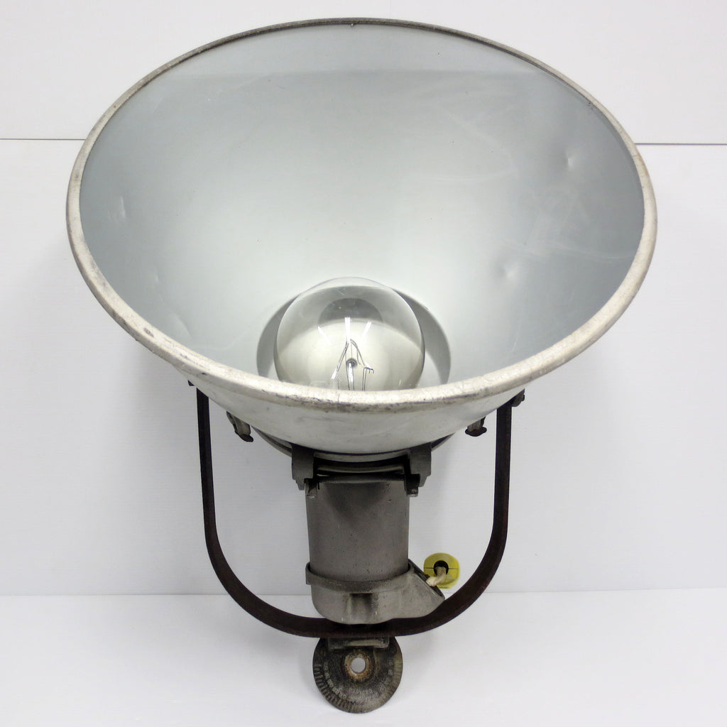 "Vintage Crouse Hinds Industrial Light Fixture 18"" Dia. Powerful Spotlight 1500W"