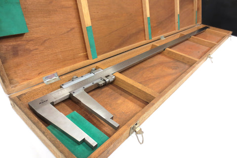 "Mitutoyo Caliper Vernier 60"" inches w/ Original Instructions & Dovetail Wood Box"