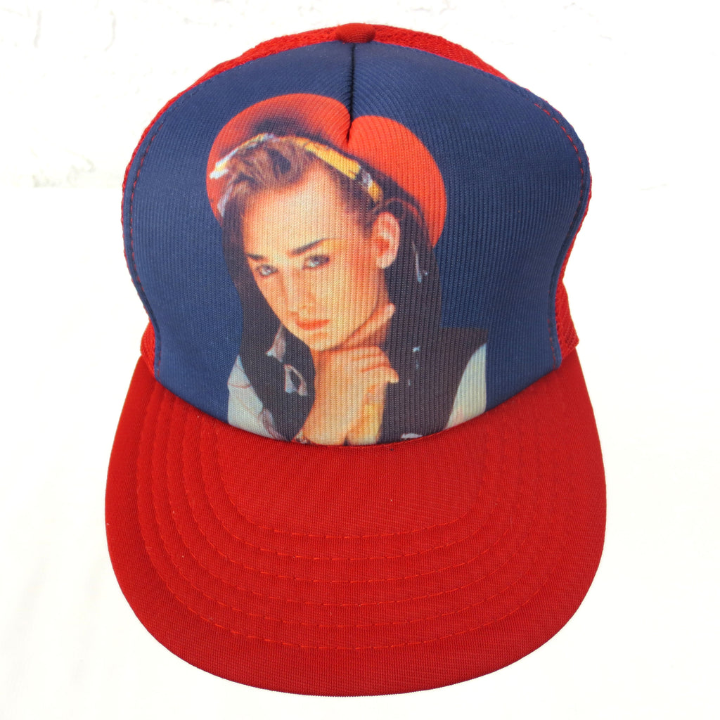 Vintage Boy George Cap Truckers Hat, Mesh, Adjustable, Front Cushion, Tag, NOS