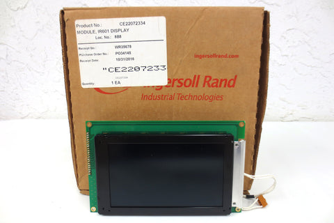 "New Ingersoll Rand LCD Display Module Card 5X3"" Screen Model IR601 P/N CE22072334"
