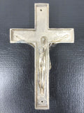 "Vintage Crucifix Fixture for Funeral Casket Coffin 6"", Nickel Plated, Rat Rod"