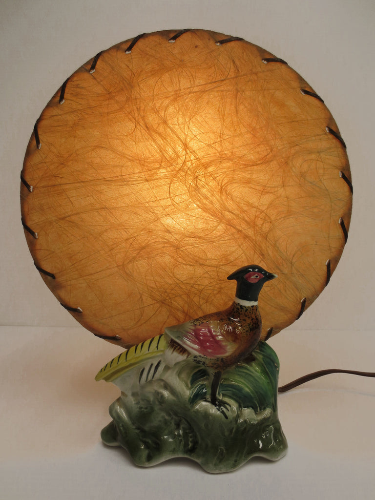 "Vintage 1950's TV Light Peacock Shafford Porcelain, Large 9X11"" Peacock Bird Lam"