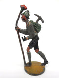 Vintage Antique Lead Toy Swiss Alpinist Figurine, Ice Axe, binoculars, hat, 2""