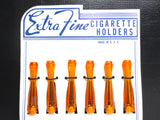 "Vintage Cigarette Holder Store Display, Translucent Bright Orange 2.5"", USA"