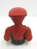 "Vintage Toy Lorry Truck Driver with Articulated Arms, 2 1/2"", Red Cap & Shirt"