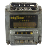 Vintage Neptune Gas Flow Meter, Garage Fuel Pump Register, Gas Station Meter