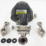"Advantage Spring-to-Close Valve 60 Psi 1"" Flange w/ 2155 Diaphragm Valve+Clamps"