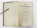Antique 1904 Medical Book Guide on Alkaloid Dosimetric Medication, Dr Salivas