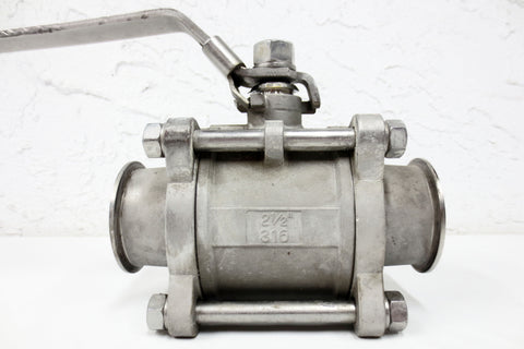 "2 1/2"" Stainless Steel Ball Valve #316, 1000 Psi WOG with 3"" Flanges, Industrial"