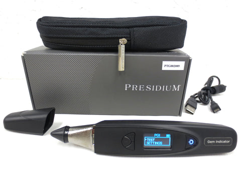 Presidium Gem Indicator 31 Colored Gemstones Tester PGI, Digital LED Screen, Pouch, USB Wire