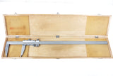 "Vernier Caliper 0-24"" in / 0-600 mm, Imperial & Metric, Maple Wood Box, Stainless Steel"