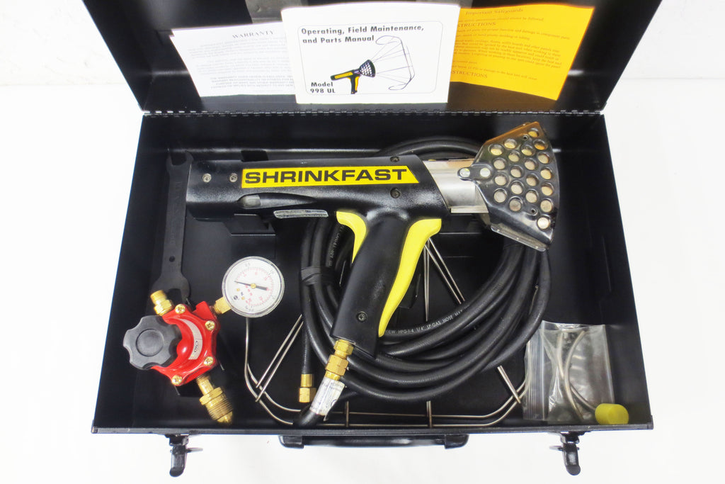 Shrinkfast 998 Full Kit Propane Heat Shrink Wrap Gun, Construction LP Gas Torch