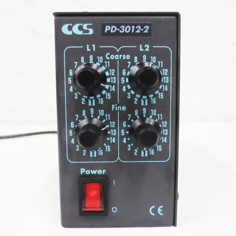 CCS PD-3012-2 Led Light Source Controller Unit 2 Channels Output, 12V w/ Cable