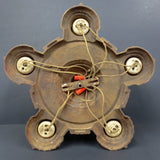 "Antique 1920s Markel Art Deco 5 Light Ceiling Flush Mount Fixture 14"" Diameter"