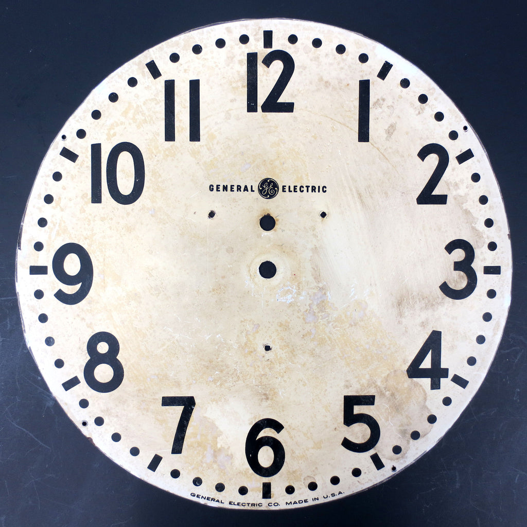 "Vintage General Electric GE Wall Clock Dial Face 12"", Industrial School Shop Wal"