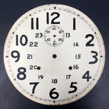 "Antique Banjo Wall Clock Dial Face 11"", Seconds Dial, 24 Hours, Hand Painted, Lo"
