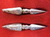 Vintage Birks Jewelry Silver Plated Corn Picks Skewers Holders, JB Scotland Hall