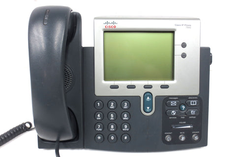 Cisco IP Phone 7900 Series 7942 CP-7942G w/ Footstand, Handset and Manual
