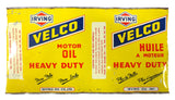 Vintage Irving Velco and British Petroleum BP Autogol Motor Oil Cans 1 Quart