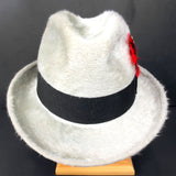 Vintage Luxury Fedora Hat by Biltmore Canadian Beaver Finish Size 7 1/4 Feathers