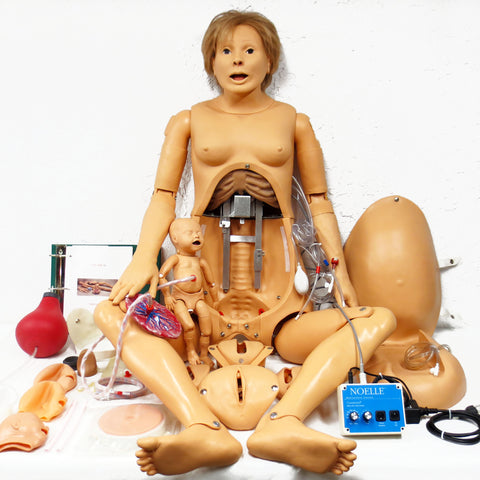 "Medical Robot 66"" Birth Simulator Manikin by Gaumard, Full Size Woman w/ Baby"