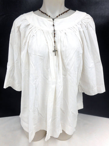 Authentic Altar Choir Boys Girls Vestment Blouse Shirt, Catholic Church Clothing, Clergy Ceremony, White