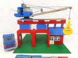 Vintage 1980 Lego Tower Crane & Truck from Playset #733, Complete Build, Crane Swivels, Articulated, With Manual