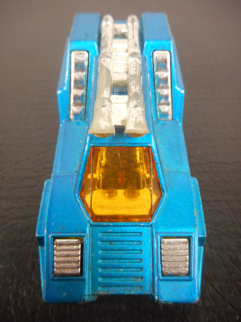 Vintage 1975 Matchbox Space Car Cosmobile Model 68, Made in England, Lesney Superfast, Blue, Yellow