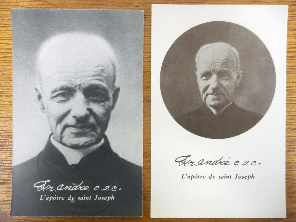 Lot of 4 WWII 1937 Brother Frere Andre Holly Prayer Cards and Photos, Saint Joseph Oratory Montreal