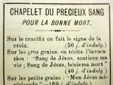 Antique 1910 1920 French Exorcism Booklets Against Satan and Revolted Angels, Precious Blood Rosary. Prayers for a Good Death